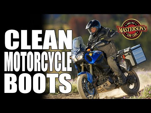 How To Clean Motorcycle Boots - Alpinestars TECH 8 - Masterson's Car Care