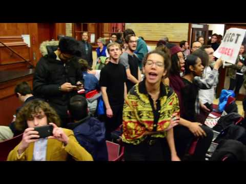 Middlebury College protest against author Charles Murray