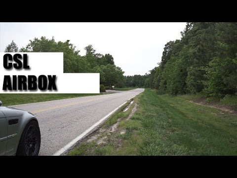 csl airbox e46 m3 sound in all its glory youtube. Black Bedroom Furniture Sets. Home Design Ideas