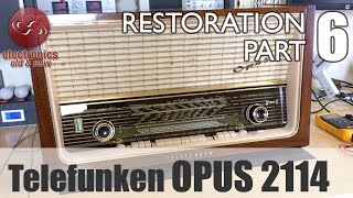 Telefunken Opus 2114 stereo tube radio restoration - Part 6. The final result.