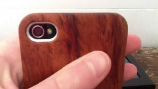 Test - Housse iPhone 4/4S en bois exotique | Amahousse