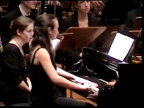 """Wings"" Concerto for piano and concert band by P.Swerts, Monica Florescu, piano"