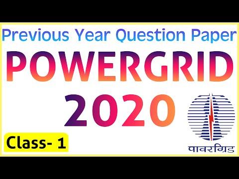 Power Grid Previous Year Question Paper   PGCIL-2020    Class 1   🔴 हिंदी