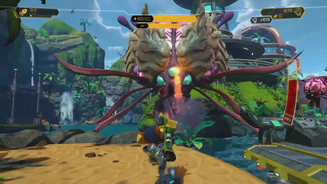 Ratchet Clank Ps4 Gameplay Paris Games Week Hd Youtube