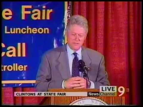 Channel 9 News - Bill & Hillary Clinton visit NYS Fair - Syracuse, NY 8/30/99