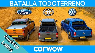 VW Amarok vs Ford Ranger vs Toyota Hilux: ¡BATALLA OFF-ROAD!
