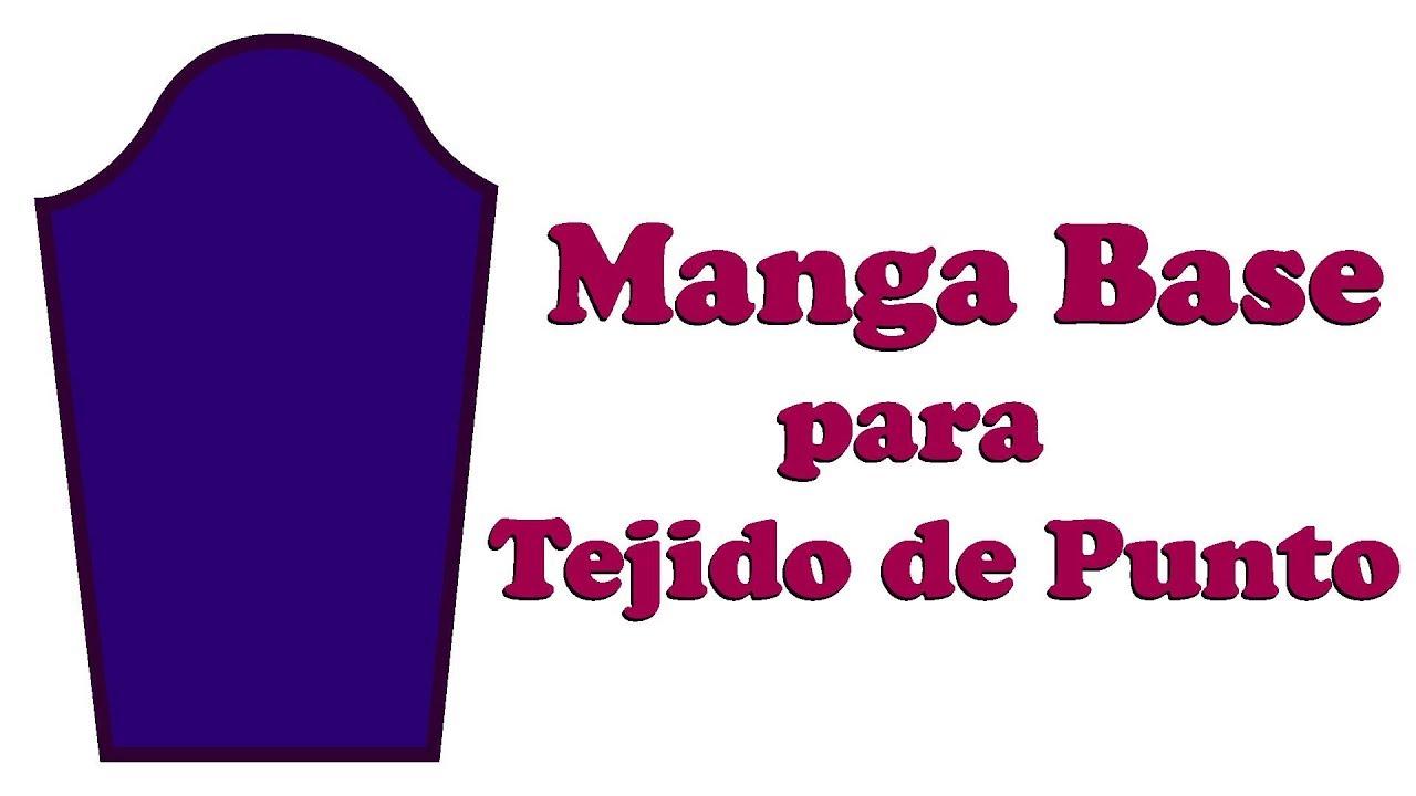 TUTORIAL: Cómo hacer el Patrón de la Manga Base para Tejido de Punto ...