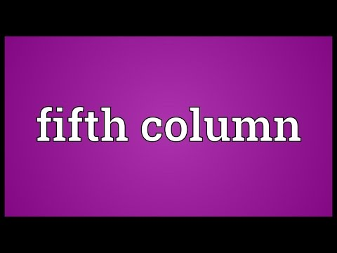 Fifth column Meaning