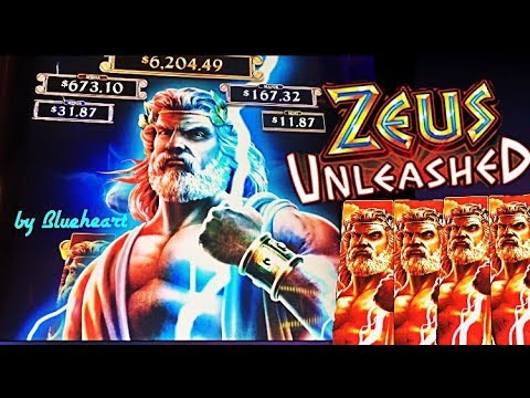 ★ NEW! ★ ZEUS UNLEASHED slot machine LIVE PLAY with BONUS WINS!