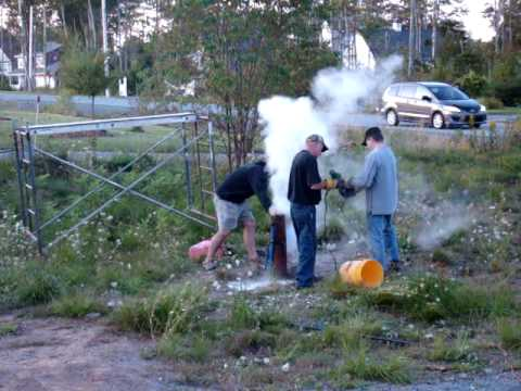 Dry Ice drilled well