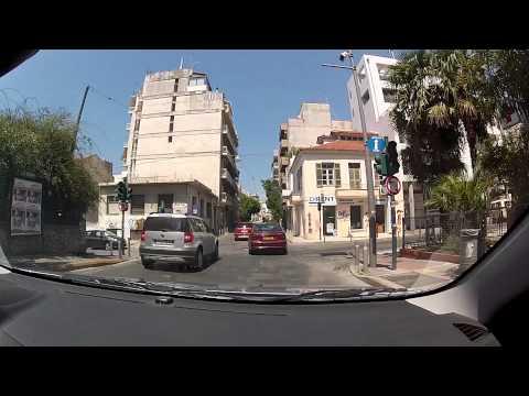 Tour of Patras (Zarouchleika - Upper Town - Dasyllio - City Center / city driving) - onboard camera