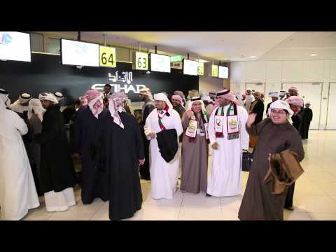 UAE football fans travelling to Bahrain for the 21st Gulf Cup of Nations - Etihad Airways