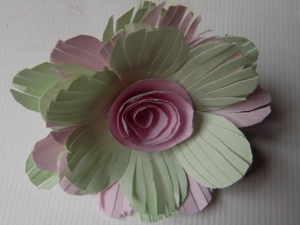 How To Make Paper Flowers At Home Step By Easy With Colour