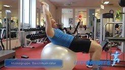 Trainingsvideo Bauchmuskeltraining auf Ball im Fitnessstudio HofSports Hof