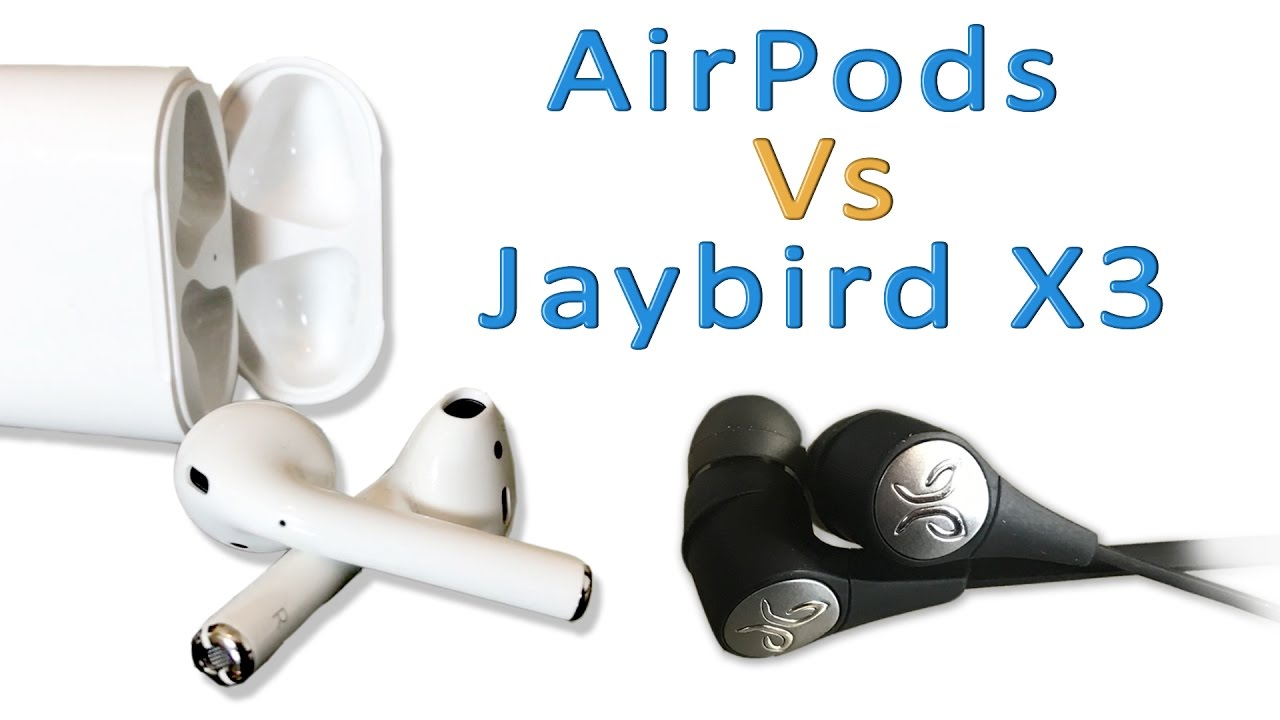 airpods vs jaybird x3 wireless bluetooth earbud showdown youtube. Black Bedroom Furniture Sets. Home Design Ideas