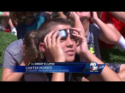 Fayetteville students safely watch solar eclipse