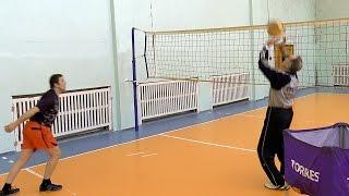 Обучение волейболу взрослых. Для начинающих. Нападающий (атакующий) удар. Обработан звук