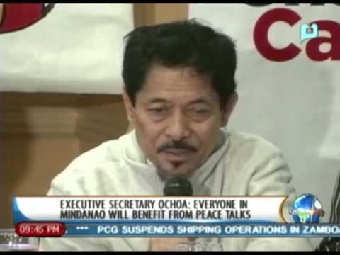 [NewsLife] Executive Sec. Ochoa: Everyone on Mindanao will benefit from peace talks - 9/9/13