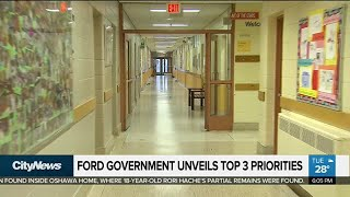 Ford government unveils top 3 priorities