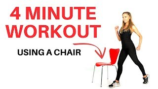 HOME FITNESS - QUICK WORKOUT TO TONE AND SCULPT USING A CHAIR