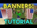 Minecraft PE 1.2 BANNERS TUTORIAL! (How to make & use Banners)