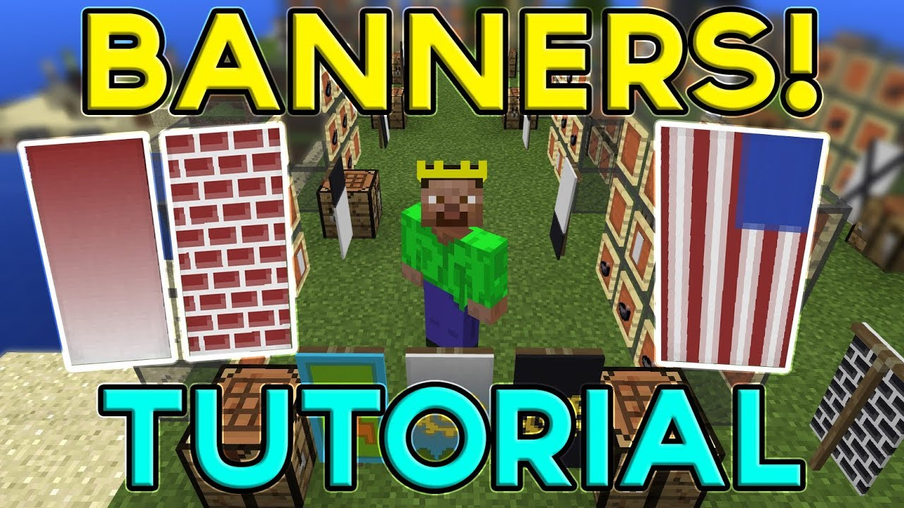 Minecraft Banners Tutorial How To Make Use Banners