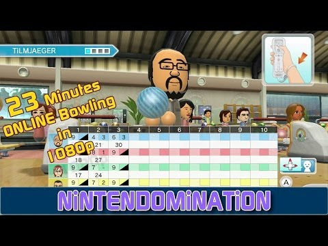 WiiU - Wii Sports Club - 23 Minutes Online Bowling Gameplay