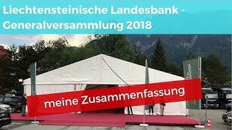 Liechtensteinische Landesbank GV 2018 - meine Zusammenfassung
