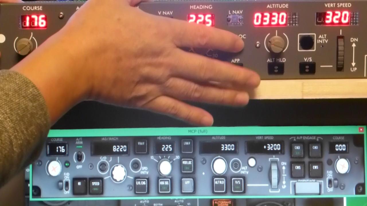 Home Made Boeing 737 MCP (7) DIY Flight Simulator Home Cockpit