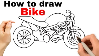 How to draw bike