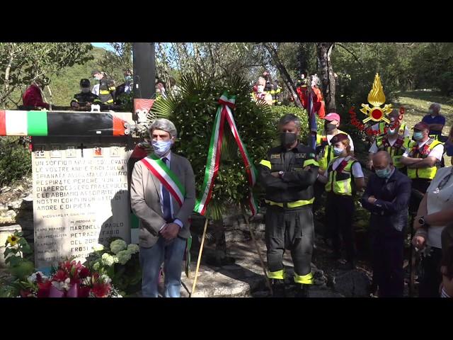 Forcelle, commemorati i Vigili del Fuoco vittime dell'incidente del Drago 56