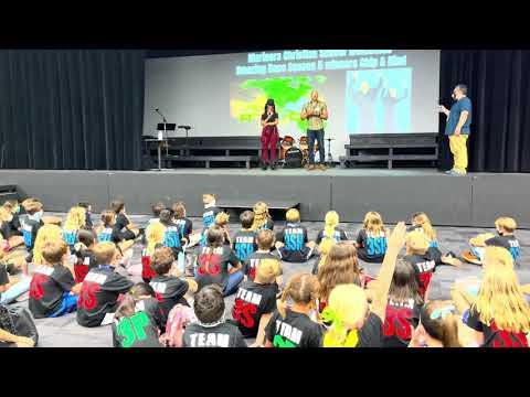 The Amazing Race Winners, Chip & Kim Visit Mariners Christian School 3rd Graders