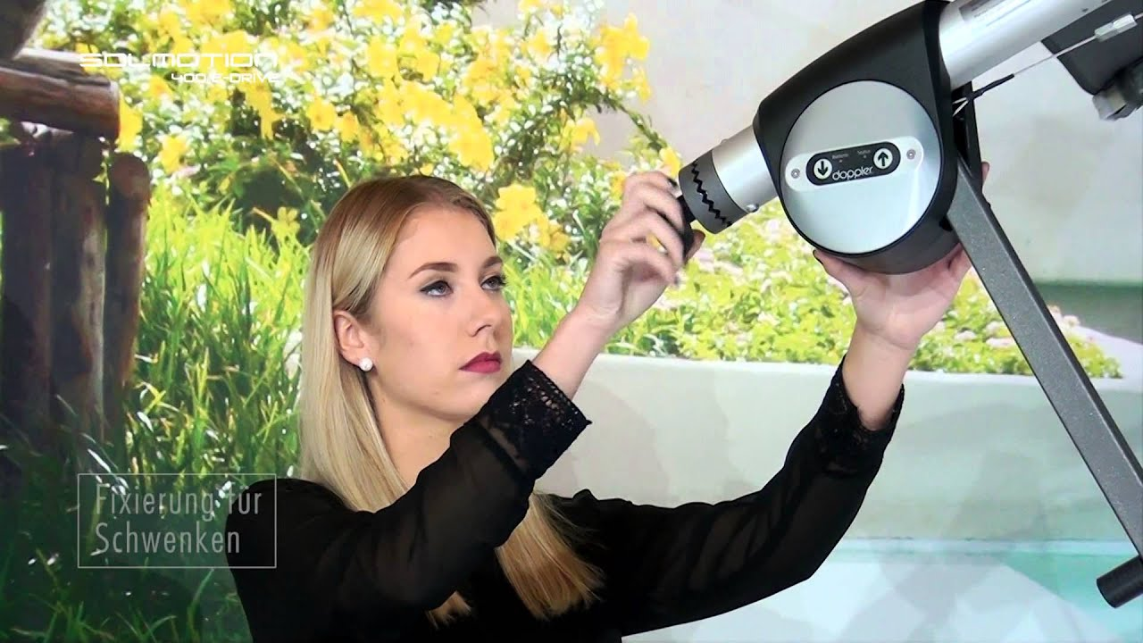 doppler erster elektrischer ampelschirm solmotion 4 m e drive youtube. Black Bedroom Furniture Sets. Home Design Ideas