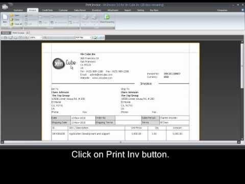 How to print invoice - Xin Invoice software 30 - YouTube - how to print invoices