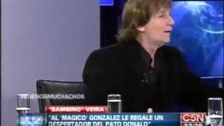 #BuenosMuchachos:Bambino Veira anecdota  Magico Gonzalez siempre llegaba tarde al entrenamiento