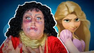 MOTHER GOTHEL GETS TANGLED MAKEUP TUTORIAL!
