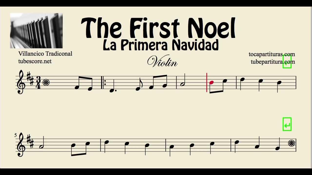 La primera navidad partitura de violin the first noel - Blanca navidad partitura ...