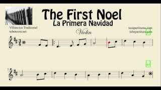 La Primera Navidad Partitura de Violin The First Noel