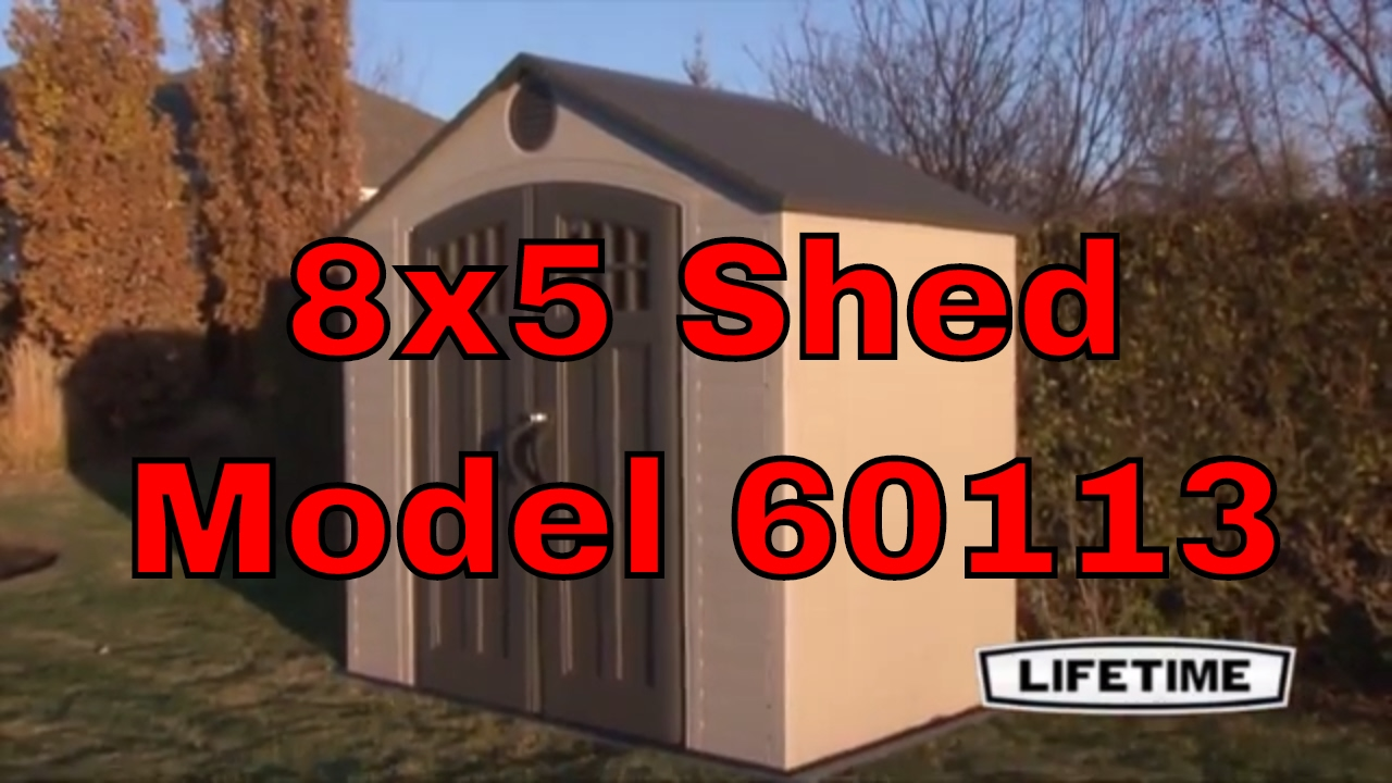 Lifetime Storage Shed 60113 8x5 With Window and Skylight & Lifetime Storage Shed 60113 8x5 With Window and Skylight - YouTube