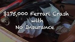 Ferrari F430 Spider Crashes with No Insurance
