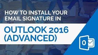 كيفية تثبيت HTML توقيع البريد الإلكتروني في Outlook 2016 (أسلوب متقدم)