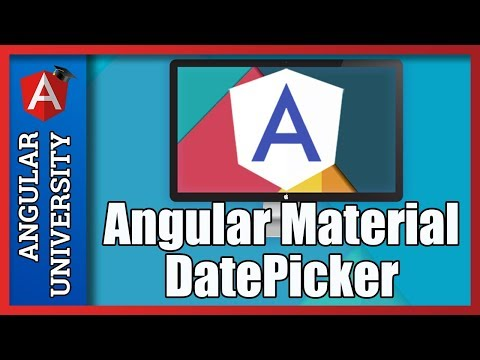 💥 Angular Material DatePicker (with MomentJs Integration)