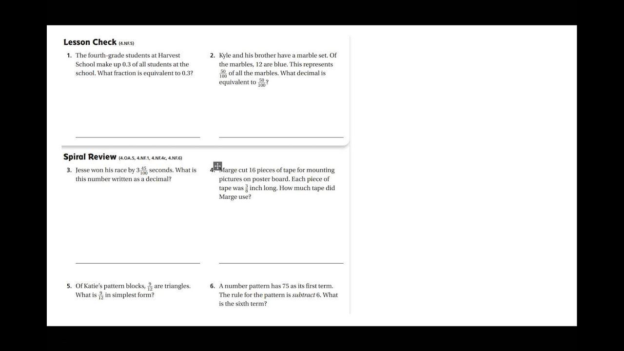 4th grade chapter 9 lesson 3 homework p160 youtube rh youtube com