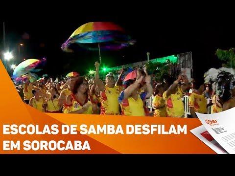 Escolas de samba desfilam em Sorocaba - TV SOROCABA/SBT