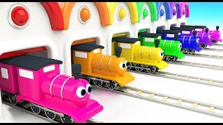 Learn Colors for Children with Baby Toy Train Garage 3D Kids Toddler Learning Educational Videos