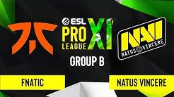 CS:GO - Natus Vincere vs. Fnatic [Dust2] Map 2 - ESL Pro League Season 11 - Group B