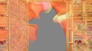 Футаж рамка золотые ворота и цветы