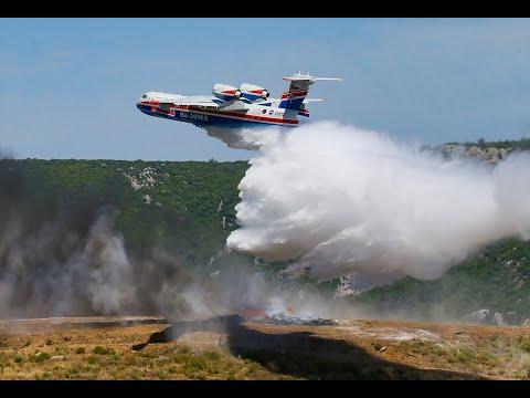 Bakan Bekir Pakdemirli yangın uçağını test etti