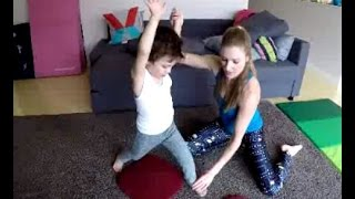 Cartwheel for kids aт home video! Great way for beginners to workout and learn how to cartwheel!