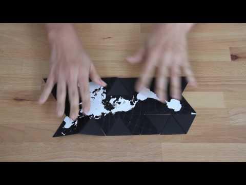 Brendan Ravenhill Creates Folding Version of Buckminster Fuller's Dymaxion Map